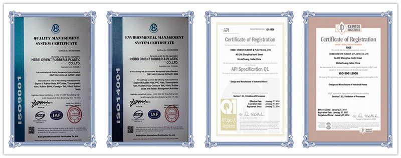 hydraulic hose r1 certifications